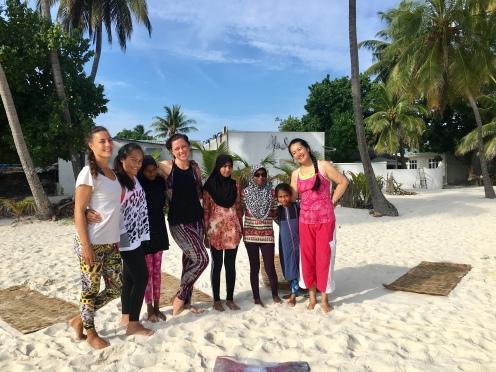 Day 8 Sunrise Yoga Group