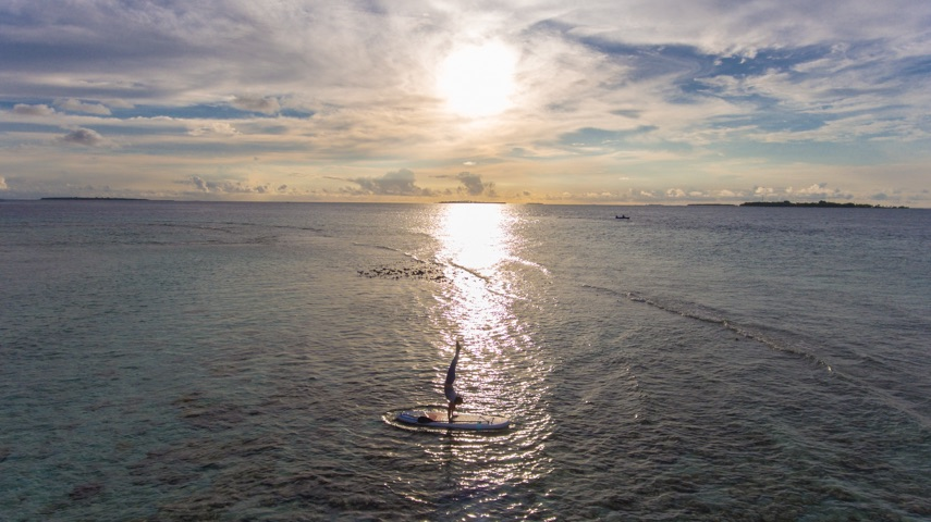 Sunset SUP Handstand 14.03.18