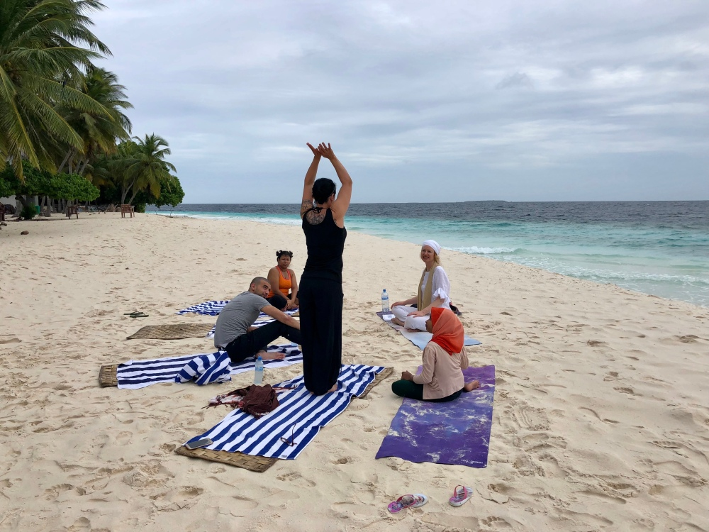 Retreat to Maldives July Day 2 Sunrise Yoga