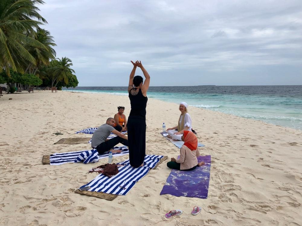 Retreat to Maldives July Day 2 Sunrise Yoga