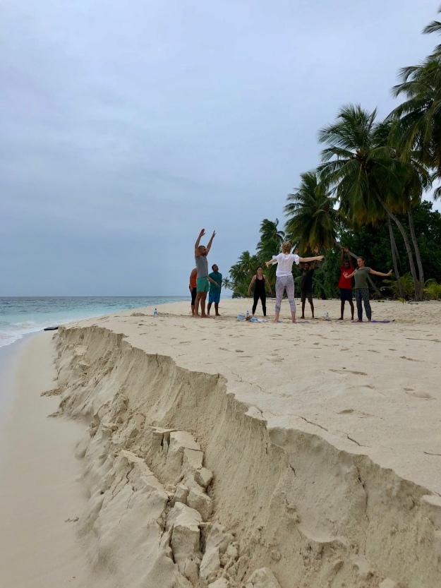 Retreat to Maldives July Day 2 Sunset Yoga 2