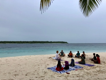 Retreat to Maldives July Day 2 Sunset Yoga
