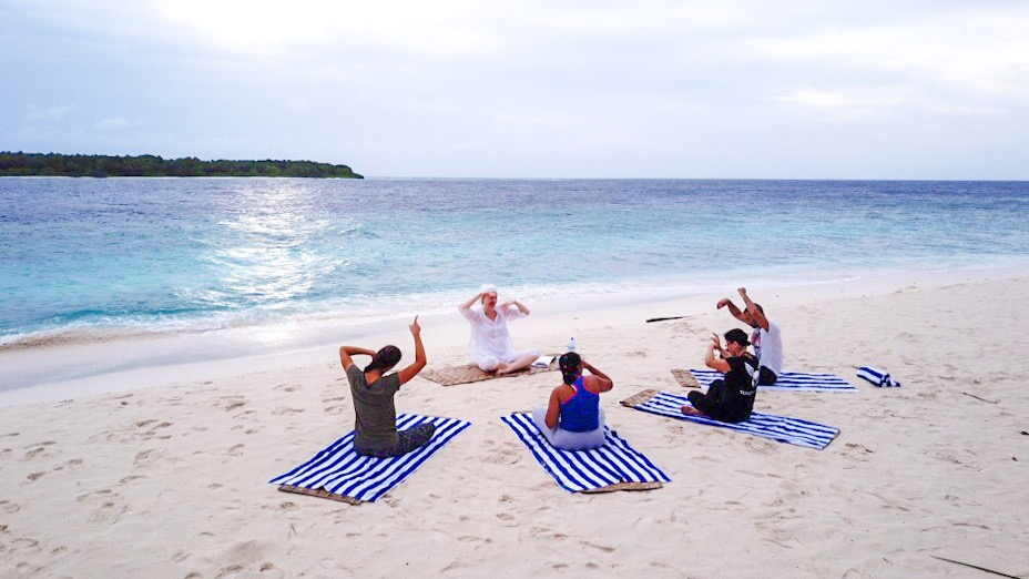 Retreat to Maldives July Day 3 Drone Yoga