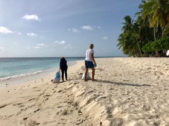 Retreat to Maldives July Day 4 Beach Clean