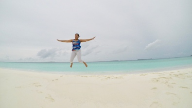 Retreat to Maldives July Day 5 Sandbank Jump