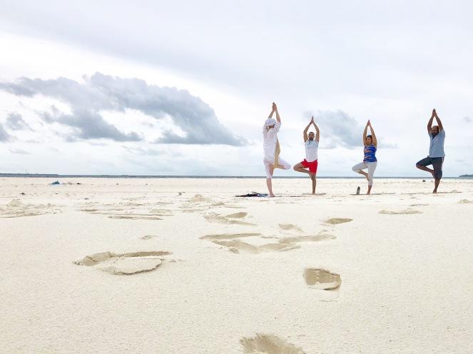 Retreat to Maldives July Day 5 Sandbank trees
