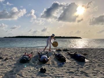Retreat to Maldives July Day 9 Sunrise gong